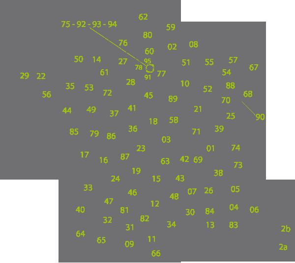 Carte de France - points de collecte Ecobat